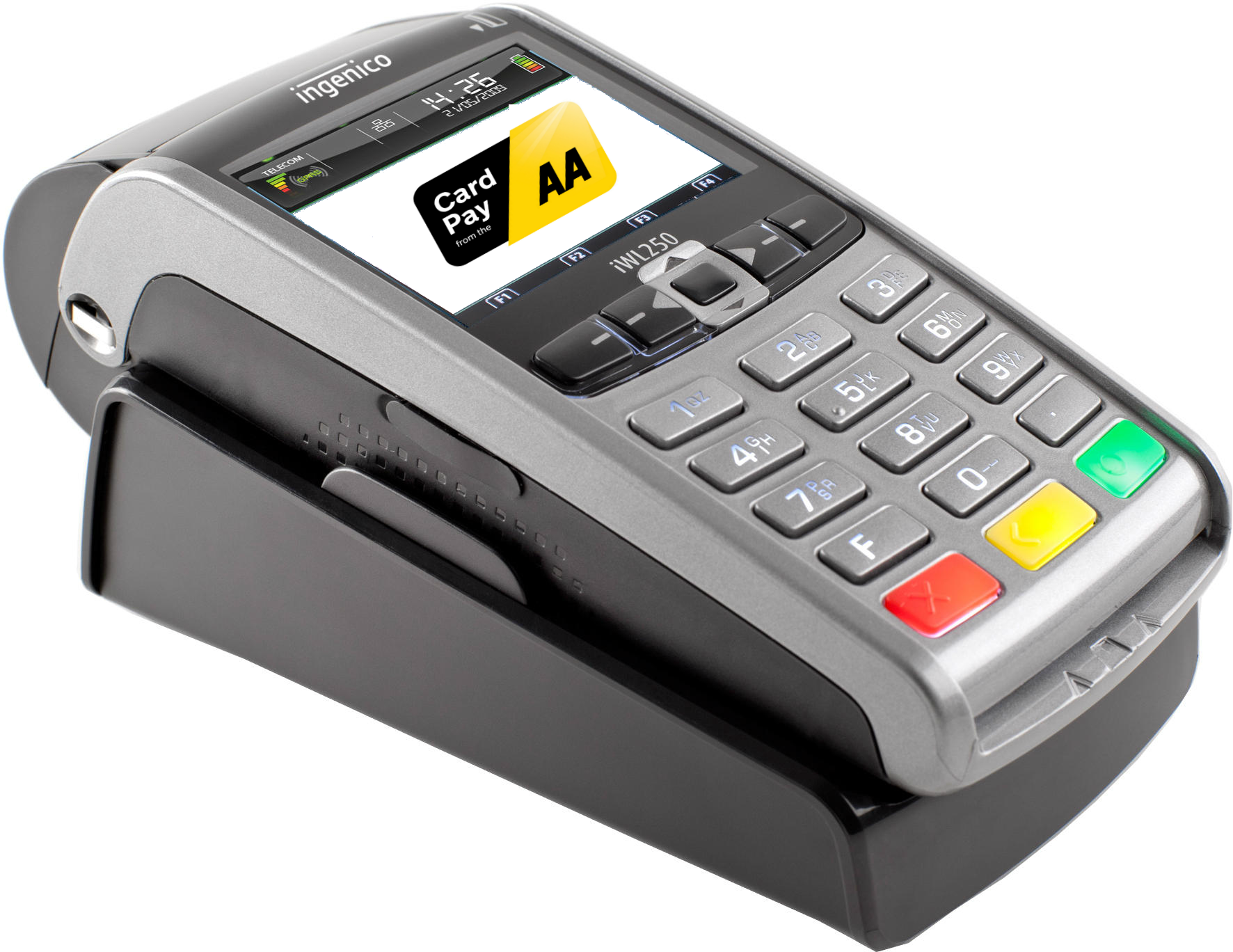 Card Pay machine in cradle large